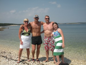 Enjoying Croatian beaches with our host
