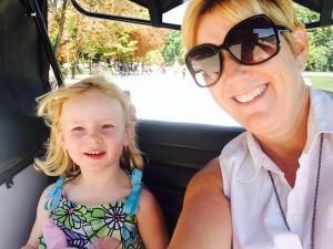 Ellie & Laurie in pedicab at Retiro Park