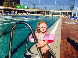 Ellie at swim club