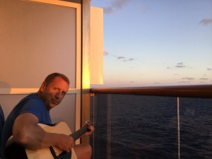 Relax and enjoy the sunset onboard a cruise ship