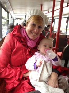 Ellie and I on the Hop On Hop Off Sightseeing Bus