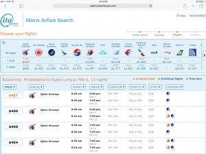 Use ITA Matrix to Search Flights