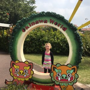 ELlie at Okinawa World.