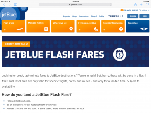 Jet Blue Flash Fares