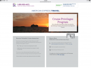 CRuise deals with american exprss