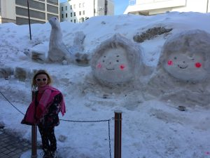 SNow Sculptures in Otaru