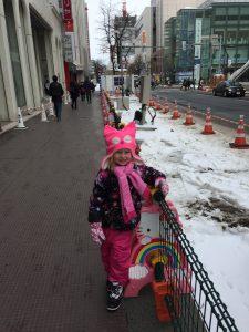 Ellie in Sapporo