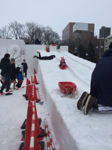 NIssin Slide at Snow Festival