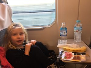 Ellie on the Shinkansen