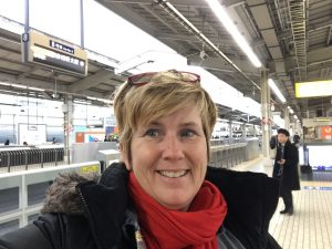 Laurie Riding the Rails in Japan