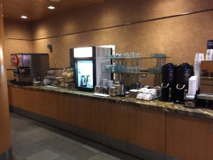 breakfast Buffet at Alaska Airlines Lounge
