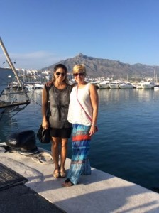 Mathi and Laurie at Porto Banus