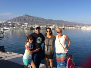 Laurie & hosts in Porto Banus