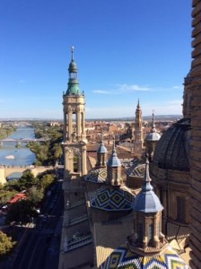 Spectacular view from cathedral in Zaragosa