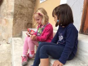 Ellie and her friend in Chinchilla