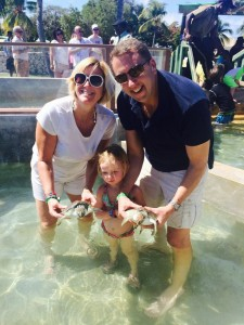 Enjoying the Caymen Island Turtle Farm excursion on Disney Cruise