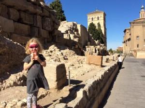 Roman ruins in Zaragoza