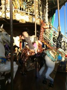 Ellie on the carousel