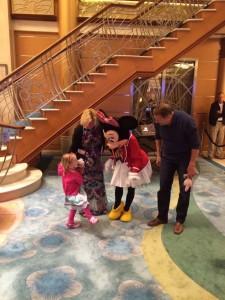 Ellie showing Minnie her new Minnie shoes