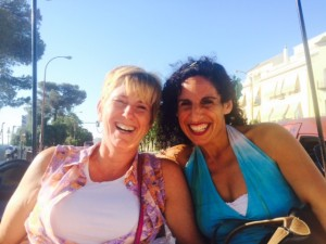 Laurie and Karin her host in Seville