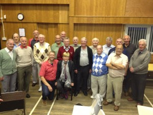 With the Dumfries Male Voice Choir in Scotland