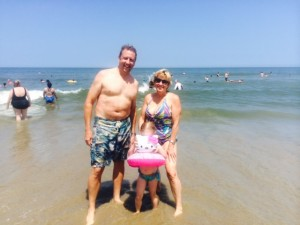 Brian, Laurie & Ellie in Va Beach